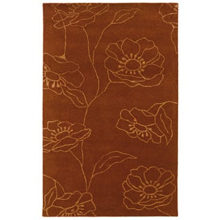 Hand-tufted Orange/ Rust Wool Area Rug
