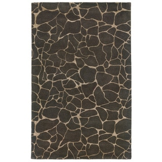 Hand-tufted Grey Wool Area Rug