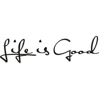 'Life is Good' Vinyl Art Quote