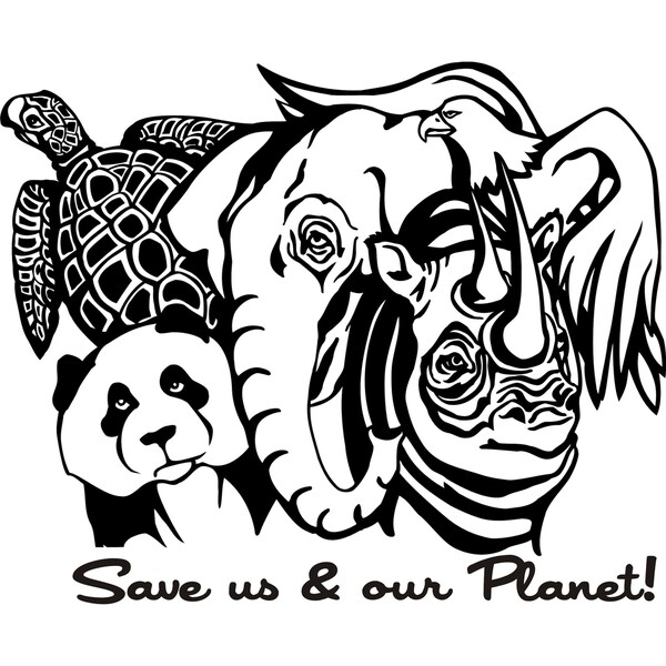 Design on Style 'Save us & our Planet' Vinyl Art Quote