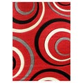 Studio 605 Geometric Design Red Area Rug