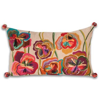 Marlo Lorenz Giselle Flowers 20-inch Decorative Pillow