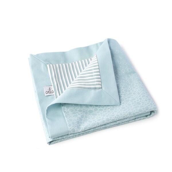 Oilo Raindrops Play Blanket Aqua