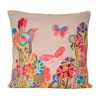 Marlo Lorenz Amorita Birds and Butterflies 17-inch Decorative Pillow