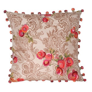 Marlo Lorenz Panji Paisley Flower 17-inch Decorative Pillow