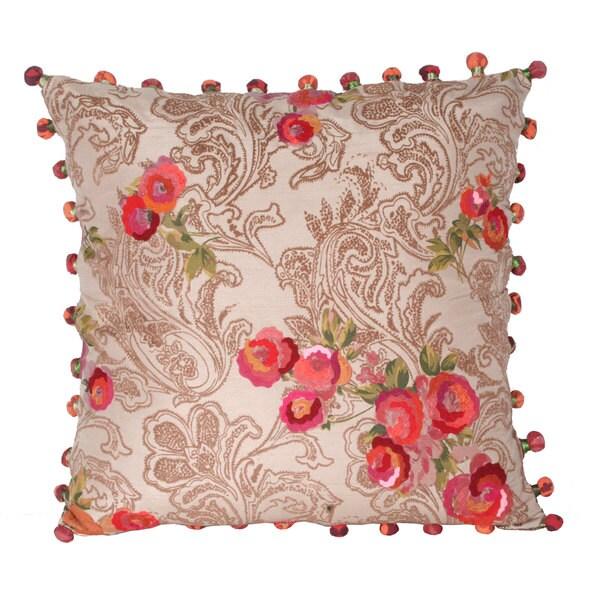 Marlo Lorenz Panji Paisley Flower 17-inch Decorative Pillow