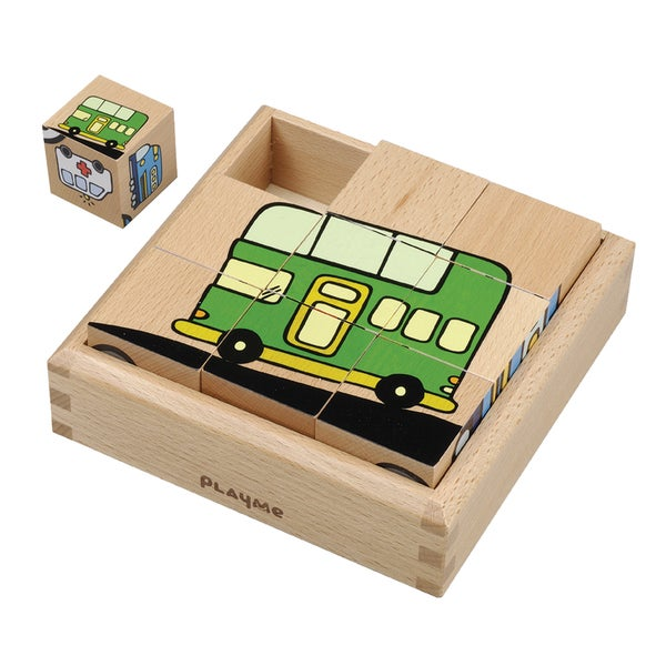 Playme Toys Transportation Cube Puzzle
