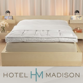 Hotel Madison 300 Thread Count Featherbed or Fiberbed Protective Cover