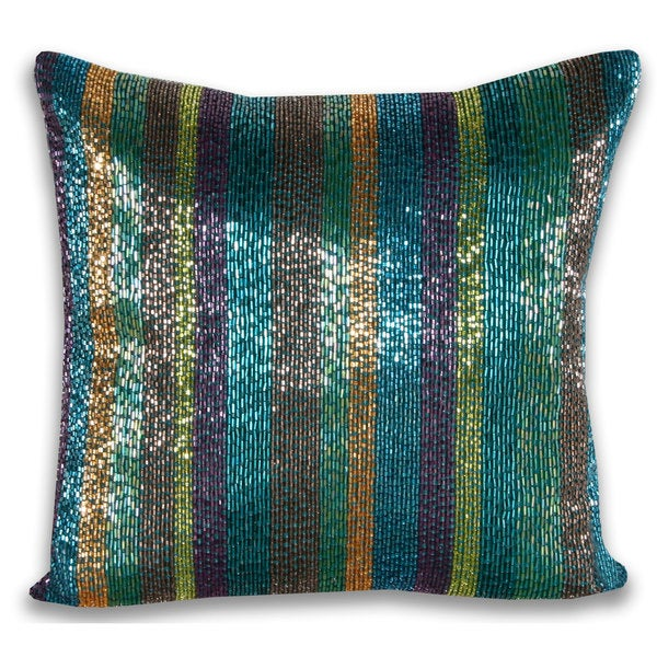 Marlo Lorenz Trista All Over Beaded 14-inch Decorative Pillow