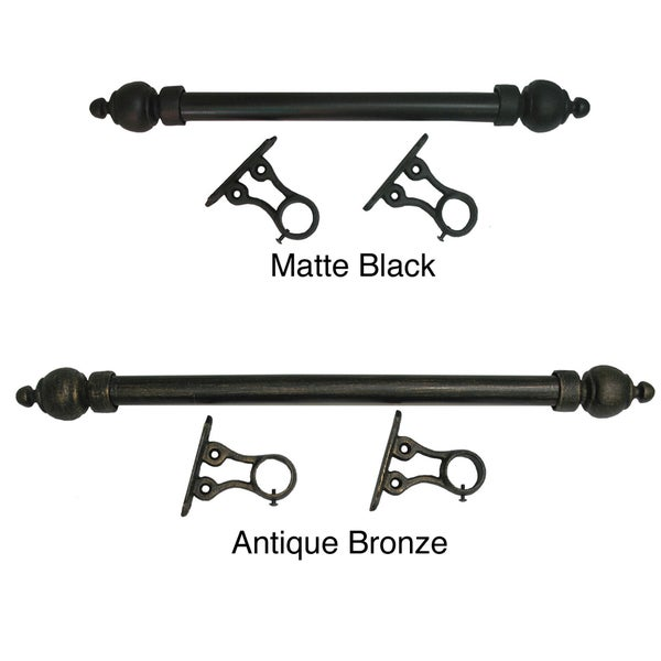 Simplicity 1-inch Smooth Metal 7-foot Rod Set