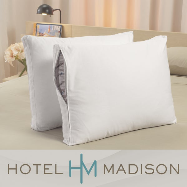 Hotel Madison 300 Thread Count Deep Gusset Protective Pillow Covers (Pack of 2)