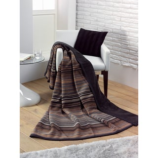 Messina Chocolate Stria Oversized Throw