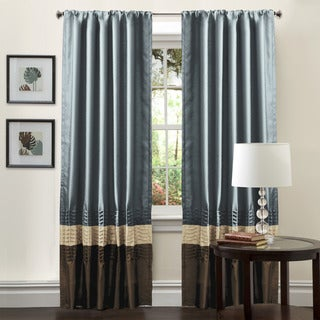 Mia Federal Blue 84-inch Curtain Panel Pair