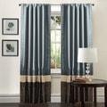 Mia Federal Blue 84-inch Curtain Panel Pair