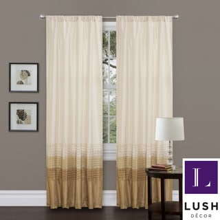 Mia Beige 84-inch Curtain Panel Pair