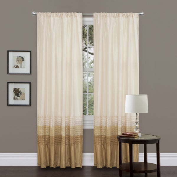 Lush Decor Mia Beige 84-inch Curtain Panel Pair