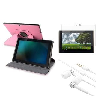 BasAcc Pink Case/Screen Protector/Headset for Asus Eee Pad Transformer