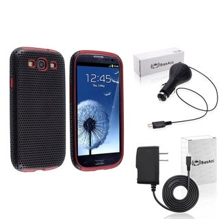 BasAcc Green Case/Travel/Car Charger Bundle for Samsung� Galaxy SIII/S3