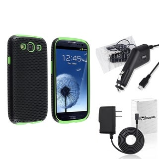 BasAcc Green Case/ Travel/ Car Charger for Samsung� Galaxy SIII/ S3