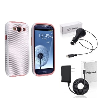 BasAcc Pink Case/ Travel/ Car Charger for Samsung� Galaxy SIII/ S3
