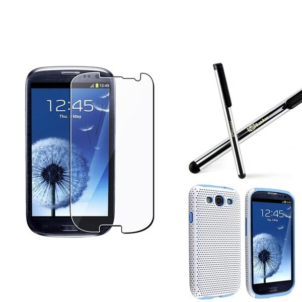 INSTEN Hybrid Phone Case Cover/ Screen Protector/ Stylus for Samsung Galaxy S3 i9300