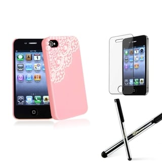 BasAcc Pink Case/ Screen Protector/ Stylus for Apple� iPhone 4/ 4S