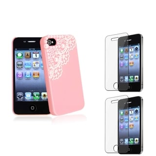 BasAcc Pink Case/ Screen Protector for Apple� iPhone 4/ 4S