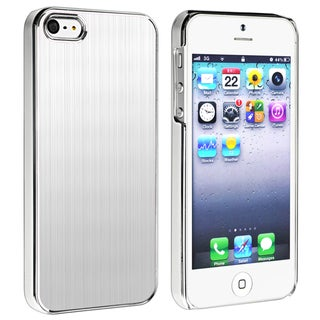 BasAcc Silver Brushed Aluminum Rear Case for Apple iPhone 5