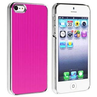 BasAcc Hot Pink Brushed Aluminum Rear Case for Apple iPhone 5