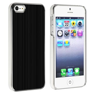 BasAcc Black Brushed Aluminum Rear Case for Apple iPhone 5