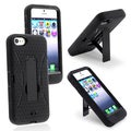 BasAcc Scratch-Resistant Black/Black Hybrid Case with Stand for Apple iPhone 5/ 5S