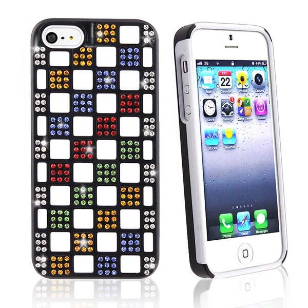 BasAcc Colorful Diamond Checkers TPU Case for Apple iPhone 5