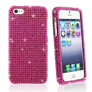 BasAcc Full Hot Pink Diamond Snap-on Case for Apple iPhone 5