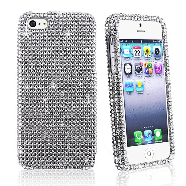 BasAcc Full Silver Diamond Snap-on Case for Apple iPhone 5