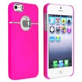 BasAcc Hot Pink with Chrome Hole Rear Snap-on Case for Apple iPhone 5
