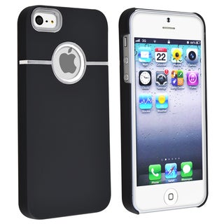 BasAcc Black with Chrome Hole  Rear Snap-on Case for Apple iPhone 5