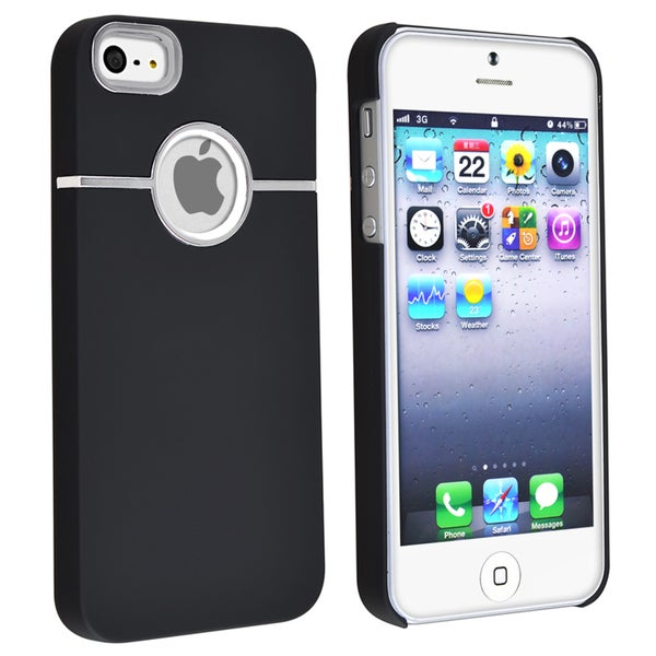 BasAcc Black with Chrome Hole Rear Snap-on Case for Apple iPhone 5/ 5S