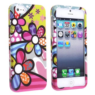 BasAcc Rainbow Flowers Snap-on Case for Apple iPhone 5