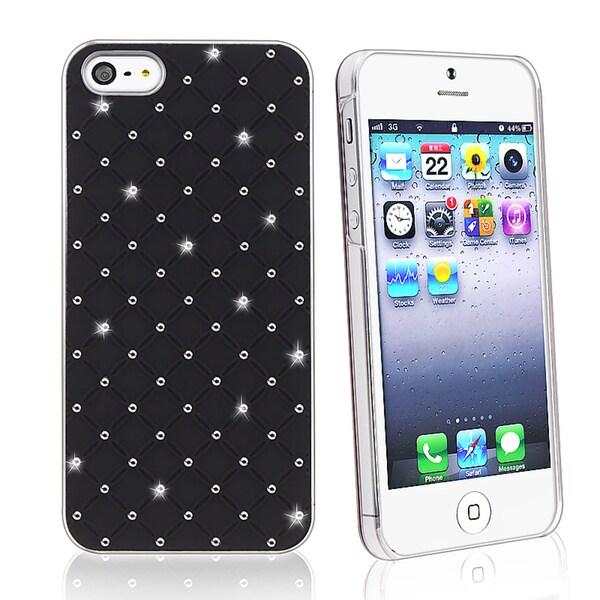 BasAcc White Lattice Diamond Snap-on Case for Apple iPhone 5