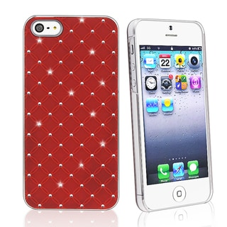 BasAcc Red Lattice Diamond Snap-on Case for Apple iPhone 5
