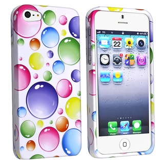 BasAcc Rainbow Bubbles Snap-on Case for Apple iPhone 5