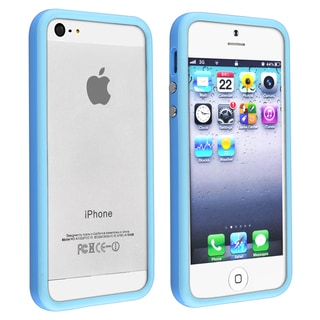 BasAcc TPU Bumper Case with Aluminum Button for Apple iPhone 5/ 5S