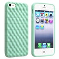 BasAcc Mint Green 3D Wave TPU Rubber Case for Apple Phone 5/ 5S
