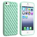 BasAcc Mint Green 3D Wave TPU Rubber Case for Apple Phone 5