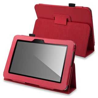 BasAcc Red Leather Case with Stand for Amazon Kindle Fire HD 7-inch