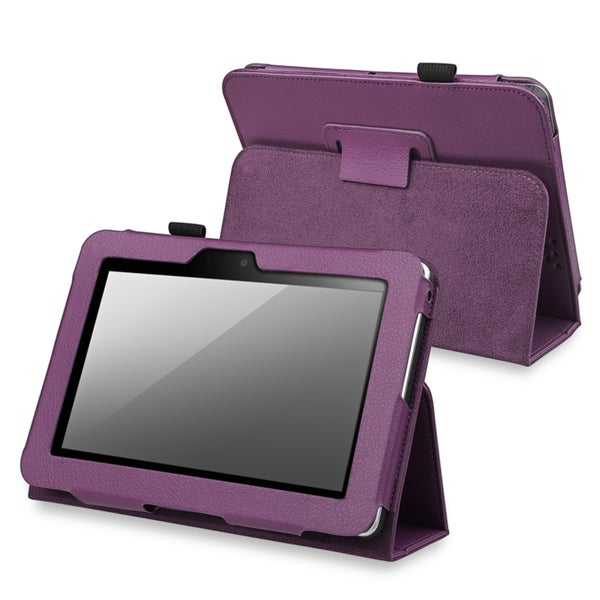 BasAcc Purple Leather Case with Stand for Amazon Kindle Fire HD 7-inch