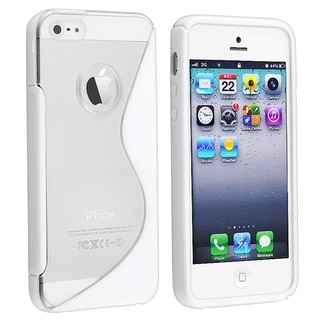 BasAcc Clear/ White Skin Case for Apple iPhone 5