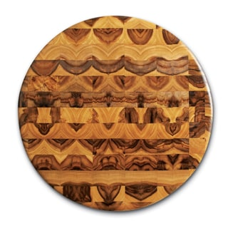 Proteak Round Teak Cutting Board End Grain