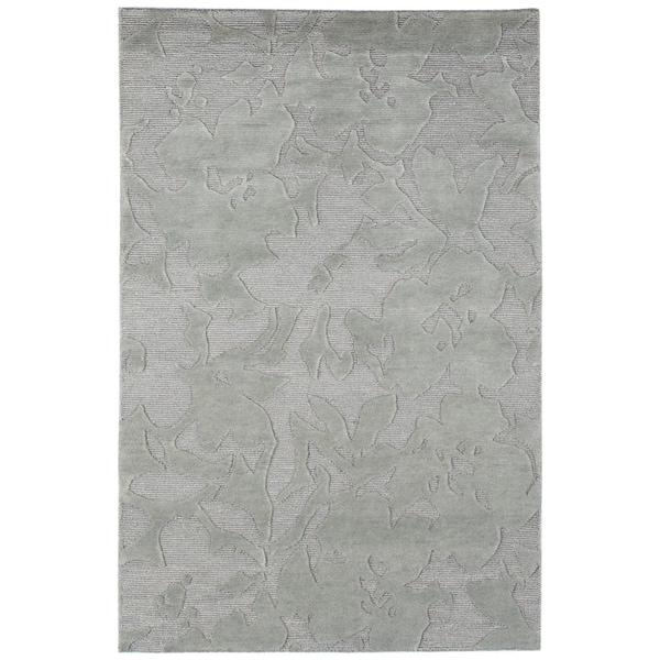 Indo-Tibetan Modern Ice Blue Wool Rug (3'6 x 5'6)
