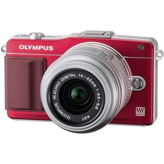 Olympus E-PM2 Mirrorless Micro Four Thirds Digital Camera with ED 14-42mm f/3.5-5.6 II R Lens